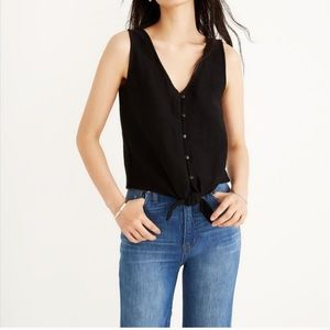 Madewell Textire and Threat Front tie Tank